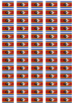 Swaziland Flag Stickers - 65 per sheet
